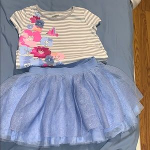 Gymboree skirt and shirt